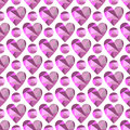 Vector seamless pattern with hearts. Polygonal design.