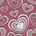 Vector seamless pattern with hearts valentines day Stock Photography
