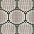 Vector seamless pattern. Hexagonal minimalistic ornament from small squares tiles. Royalty Free Stock Photo