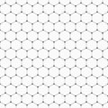 Vector seamless pattern of hexagons with rounded corners. Royalty Free Stock Photo