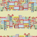 Vector seamless pattern with houses and buildings town concept background you can be used for wallpapers fills web Royalty Free Stock Image