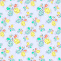Vector seamless pattern with insect Hand drawn outline decorative endless background with cute drawn butterfly Graphic illustratio