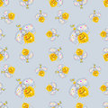 Vector seamless pattern with insect Hand drawn outline decorative endless background with cute drawn wasp Graphic illustration. Li Royalty Free Stock Photo