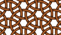 Vector seamless pattern of interlaced leather cords