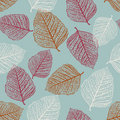 Vector Seamless Pattern of Leaves Royalty Free Stock Photos