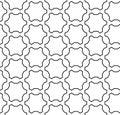 Vector seamless pattern, linear geometric figures