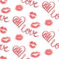 Vector seamless pattern - lips prints
