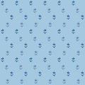 Vector seamless pattern, little flowers on blue Stock Photos