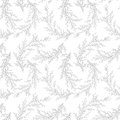 Vector seamless pattern made of Hand Drawn branches. Monochrome Botanical Vintage Vector Illustration. Vector wedding