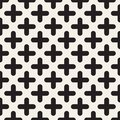 Vector seamless pattern. Modern stylish abstract texture. Repeating geometric rounded cross shapes.