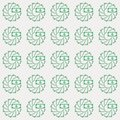 Vector seamless pattern of moneys in creative loop circle style