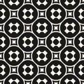 Vector seamless pattern, monochrome geometric texture, smooth pe