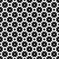 Vector seamless pattern, monochrome lattice texture