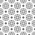 Vector seamless pattern, monochrome ornament texture