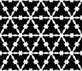 Vector seamless pattern, monochrome smooth triangular lattice