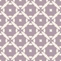 Vector geometric seamless pattern with mosaic tiles. Pale purple and beige floral retro ornament. Royalty Free Stock Photo