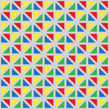 Vector seamless pattern with multi-colored triangles.
