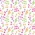 Vector seamless pattern with music notes Royalty Free Stock Photos