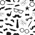 Vector seamless pattern of photo booth props