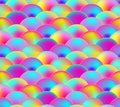 Vector Seamless Pattern, Rainbow Scale, Colorful Illustration.