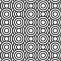 Vector seamless pattern. Repeating geometric tiles. Concentric circles Royalty Free Stock Photo