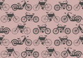 Vector seamless pattern with retro bicycle stylish template can be used for wallpaper background textile cover and more creative Stock Photography