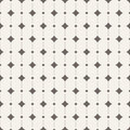Vector seamless pattern with rhombus and dots Stock Images