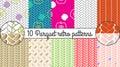 Vector seamless pattern set. Parquet retro background Royalty Free Stock Photo
