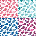 Vector seamless pattern set for web design prints etc repeating background with little socks can be copied without any seams Stock Image