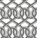 Vector seamless pattern of shower hoses