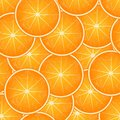 Vector seamless pattern of slices of oranges all over the image field. For printing on fabrics, packaging, napkins, as Royalty Free Stock Photo