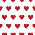 Vector seamless pattern with small hearts on white background