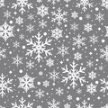Vector seamless pattern with snowflakes.