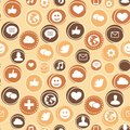 Vector seamless pattern with social media icons Royalty Free Stock Photos