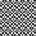 Vector seamless pattern. Star shapes in squares texture. Black-and-white background. Monochrome festive design.