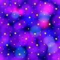 Vector Seamless Pattern: Starry Sky, Cosmic Colorful Background, Wrapping Paper.