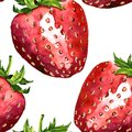 Vector seamless pattern with strawberry Royalty Free Stock Photo