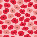 Vector seamless pattern with stylized poppies