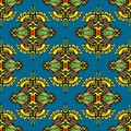 Vector seamless pattern textile damask design ethnic tribal Royalty Free Stock Photo