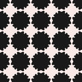 Vector seamless pattern, texture with flat floral silhouettes