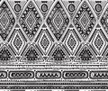 Vector seamless pattern for tribal design. Ethnic motif. Royalty Free Stock Photo