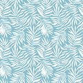 Vector seamless pattern with tropical leaves. Beautiful print with hand drawn exotic plants. Swimwear botanical design.