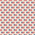 Vector seamless pattern of USA flag