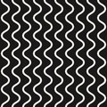 Vector seamless pattern, vertical wavy lines. Simple background. Royalty Free Stock Photo