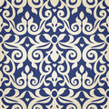 Vector seamless pattern in Victorian style. Royalty Free Stock Photo