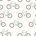Vector seamless pattern with vintage bicycle eps Stock Photo