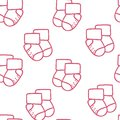 Vector seamless pattern for web design prints etc repeating background with little socks can be copied without any seams children Royalty Free Stock Image