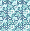 Vector seamless pattern with wild roses, vintage style. Hand drawn fabric design. Royalty Free Stock Photo