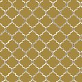 Vector seamless pattern of yellow mozaic. Moroccan-inspired tiles