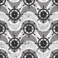 Vector seamless patterns Background with steering wheel, waves Creative geometric vintage backgrounds, nautical theme Graphic illu